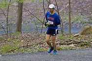 Gardiner, New York - Takeshi Yamazaki compete in the Rock the Ridge 50-mile endurance challenge race at the Mohonk Preserve on May 4, 2013. The race is part of Mohonk's 50th anniversary celebration and a fundraiser for the preserve.