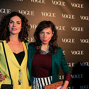 NLD/Amsterdam/20130314 - 1 jarig bestaan magazine Voque Nederland , Anna Drijver en Hanna Bervoets