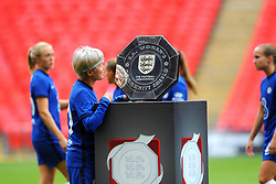 Ji So-Yun of Chelsea Women admires the FA Women's Community Shield  - Mandatory by-line: Nizaam Jones/JMP - 29/08/2020 - FOOTBALL - Wembley Stadium - London, England - Chelsea v Manchester City - FA Women's Community Shield