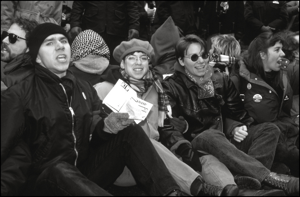 James Augustus Baggett, Rolf Sjogren, Alexis Danzig, Polly Thistlethwaite, Christine Poff and others from ACT UP and WHAM! made history on December 8, 1989, with a massive protest at St.Patrick's Cathedral. Five thousand people protested the Roman Catholic Archdiocese's public stand against AIDS education and condom distribution, and its opposition to a women's right to abortion.