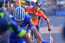 August 3, 2018 - Putte, BELGIUM - Italian Sonny Colbrelli of Bahrain-Merida pictured at the start of the one lap time trial at the 3rd edition of the 'Natourcriterium Putte' cycling event, Friday 03 August 2018 in Putte. The contest is a part of the traditional 'criteriums', local races in which mainly cyclists who rode the Tour de France compete. BELGA PHOTO LUC CLAESSEN (Credit Image: © Luc Claessen/Belga via ZUMA Press)