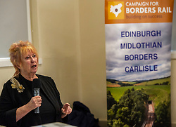 Pictured: Christine Grahame, MSP and Deputy Convenor of the Scottish Parliament, is a strong supporter of the campaign.<br /> <br /> The Campaign for Borders Rail 20th Anniversary Annual<br /> General Meeting. Opening address from Christine Grahame MSP, a regular user of the service, gave the opening address<br /> <br /> Ger Harley | EEm 8 October 2019
