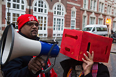 2019-12-06 Protest outside CCHQ against offensive statements by Boris Johnson