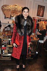 CAROLINE ISSA at a party to celebrate thelaunch of Alice Temperley's flagship store Temperley, Bruton Street, London on 6th December 2012.
