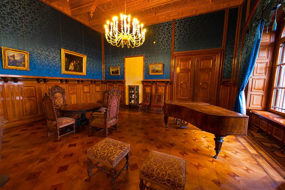 Parlor, Schloss Schwerin (castle), Schwerin, Mecklenburg-West Pomerania, Germany