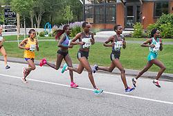 elite women's mile 2, leaders