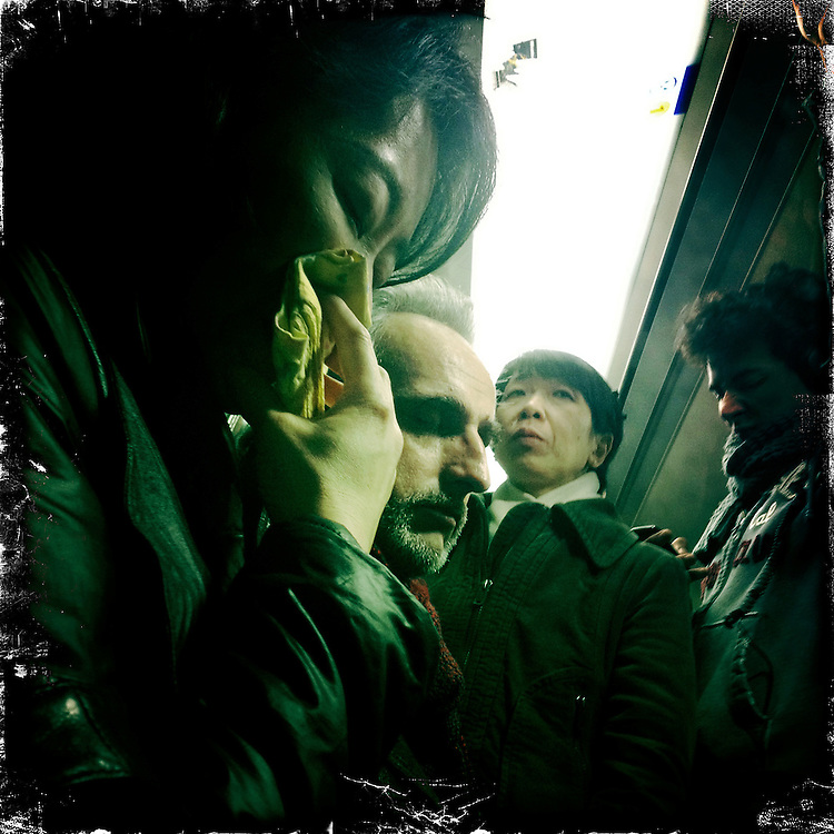 Paris, France. February 26th 2012.In the parisian subway