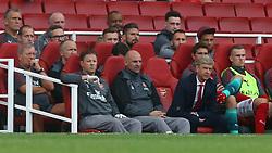 July 30, 2017 - London, England, United Kingdom - Arsenal manager Arsene Wenger .during Emirates Cup match between Arsenal  against Savilla FC   at Emirates Stadium on 30 July 2017  (Credit Image: © Kieran Galvin/NurPhoto via ZUMA Press)