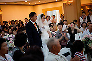 Daegu/South Korea, Republic Korea, KOR, 05.09.2010: Modern Korean wedding in the South Korean city of Daegu.