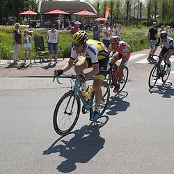 07-05-2016: Wielrennen: Giro: Nijmegen<br />NIJMEGEN (NED) wielrennen <br />Tussen Arnhem en Nijmegen reden de renners de eerste etappe van de 99e Giro Italia. Een lange vlucht met een hoofdrol voor Maarten Tjallingj