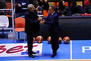 DESCRIZIONE : Brindisi  Lega A 2015-15 Enel Brindisi Dolomiti Energia Trento<br /> GIOCATORE : Piero Bucchi Bagnato Luigi<br /> CATEGORIA : Allenatore Coach<br /> SQUADRA : Before Pregame<br /> EVENTO : Lega A 2015-2016<br /> GARA :Enel Brindisi Dolomiti Energia Trento<br /> DATA : 25/10/2015<br /> SPORT : Pallacanestro<br /> AUTORE : Agenzia Ciamillo-Castoria/D.Matera<br /> Galleria : Lega Basket A 2015-2016<br /> Fotonotizia : Enel Brindisi Dolomiti Energia Trento<br /> Predefinita :