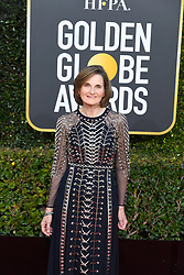January 6, 2019 - Los Angeles, California, U.S. - Deborah Davis screen writer for The Favourite during red carpet arrivals for the 76th Annual Golden Globe Awards at The Beverly Hilton Hotel. (Credit Image: © Kevin Sullivan via ZUMA Wire)