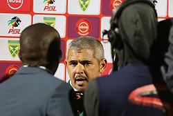 Durban, SOUTH AFRICA - SEPTEMBER 19: Golden Arrows head coach Clinton Larsen talking during the Absa Premiership match between Golden Arrows and Mamelodi Sundowns at Princess Magogo Stadium on September 19, 2018 in Durban, South Africa. <br /> (Photo by Motshwari Mofokeng/ANA)