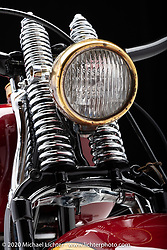 Cole Foster's Chris's Flathead Cruiser, an 80 ci Harley-Davidson. Photographed by Michael Lichter in Sturgis, SD.August 2, 2020. ©2020 Michael Lichter