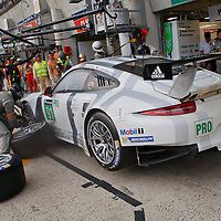 #91 Porsche 911 RSR, Porsche Team Manthey, driven by: Lietz, Christensen, Bergmeister, at Le Mans 24H 2015