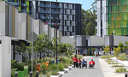 "EXCLUSIVE: Visiting athletes have declared the Gold Coast Commonwealth Games village the ""best ever built"". The village has everything from condom vending machines, cafes, a hair salon, green area, its own post office, pools in every apartment block, and an entertainment hub. English Beach volleyballers Victoria Palmer and Jess Grimson declared it the ""best games village"" ever. 30 Mar 2018 Pictured: Games Village. Photo credit: MEGA TheMegaAgency.com +1 888 505 6342"