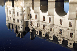 Loire Valley, France:  The Chateau de Chenonceau is on the outskirts of a small village by the same name and dates from the 11th century.  It sits within the river Cher which provides a moat-like appearance, and is the second-most visited chateau in France.