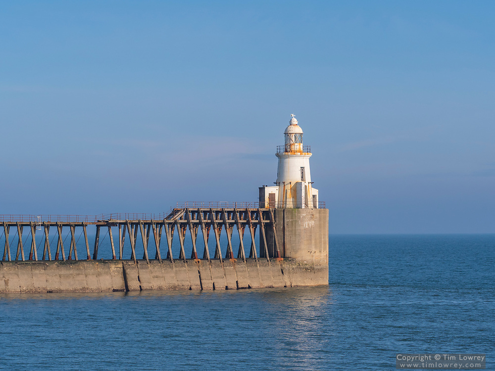 Blyth Lighthouse built in 1907 to aid ships entering the River Blyth and Blyth Harbour