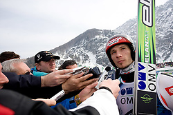 KRANJEC Robert, SK Triglav Kranj, SLO with journalists after the Flying Hill Individual Race at 3rd day of FIS Ski Flying World Championships Planica 2010, on March 20, 2010, Planica, Slovenia.  (Photo by Vid Ponikvar / Sportida)