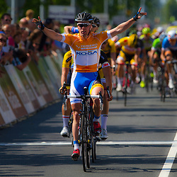 WIELRENNEN, Hoofddorp, Olympias tour. Wim Stroetinga wint zijn  vierde etappe in Olympia TOur