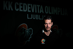 Jurica Golemac during press conference and introduction of new head coach for KK Cedevita Olimpija  on January 28, 2020 in Arena Stozice, Ljubljana, Slovenia. Photo By Grega Valancic / Sportida