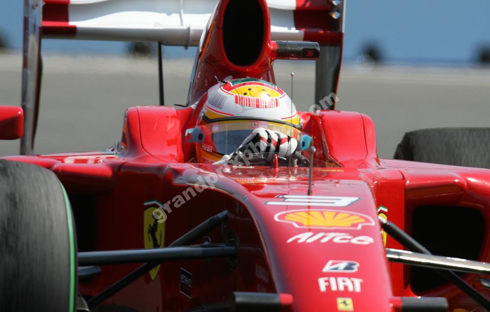 Luca Badoer (Ferrari) in the 2009 European Grand Prix in Valencia. Photo: Grand Prix Photo