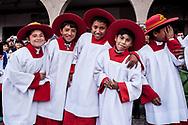 Feast of Corpus Christi. Altar boys
