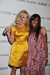 Left to right, FEARNE COTTON and ALEXANDRA BURKE at the Glamour Women of The Year Awards 2011 held in Berkeley Square, London W1 on 7th June 2011.