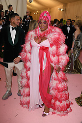 Lizzo attending the Costume Institute Benefit at The Metropolitan Museum of Art celebrating the opening of Heavenly Bodies: Fashion and the Catholic Imagination. The Metropolitan Museum of Art, New York City, New York, May 6, 2019. Photo by ABACAPRESS.COM