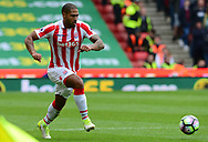 Glen Johnson of Stoke city in action.  Premier league match, Stoke City v West Ham Utd at the Bet365 Stadium in Stoke on Trent, Staffs on Saturday 29th April 2017.<br /> pic by Bradley Collyer, Andrew Orchard sports photography.