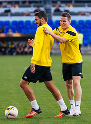 17.05.2016, St. Jakob Park, Basel, SUI, UEFA EL, FC Liverpool vs Sevilla FC, Finale, im Bild Daniel Carrico (FC Sevilla), Kevin Gameiro (FC Sevilla) // Daniel Carrico (FC Sevilla), Kevin Gameiro (FC Sevilla) during the Training in front of the Final Match of the UEFA Europaleague between FC Liverpool and Sevilla FC at the St. Jakob Park Stadium in Basel, Switzerland on 2016/05/17. EXPA Pictures © 2016, PhotoCredit: EXPA/ JFK