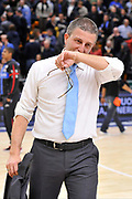 DESCRIZIONE : Campionato 2014/15 Serie A Beko Dinamo Banco di Sardegna Sassari - Upea Capo D'Orlando <br /> GIOCATORE : Giulio Griccioli<br /> CATEGORIA : Post Game Postgame Delusione<br /> SQUADRA : Upea Capo D'Orlando<br /> EVENTO : LegaBasket Serie A Beko 2014/2015 <br /> GARA : Dinamo Banco di Sardegna Sassari - Upea Capo D'Orlando <br /> DATA : 22/03/2015 <br /> SPORT : Pallacanestro <br /> AUTORE : Agenzia Ciamillo-Castoria/C.Atzori <br /> Galleria : LegaBasket Serie A Beko 2014/2015