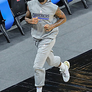 ORLANDO, FL - MARCH 01: James Johnson #16 of the Dallas Mavericks warms up prior to a game against the Orlando Magic at Amway Center on March 1, 2021 in Orlando, Florida. NOTE TO USER: User expressly acknowledges and agrees that, by downloading and or using this photograph, User is consenting to the terms and conditions of the Getty Images License Agreement. (Photo by Alex Menendez/Getty Images)*** Local Caption *** James Johnson