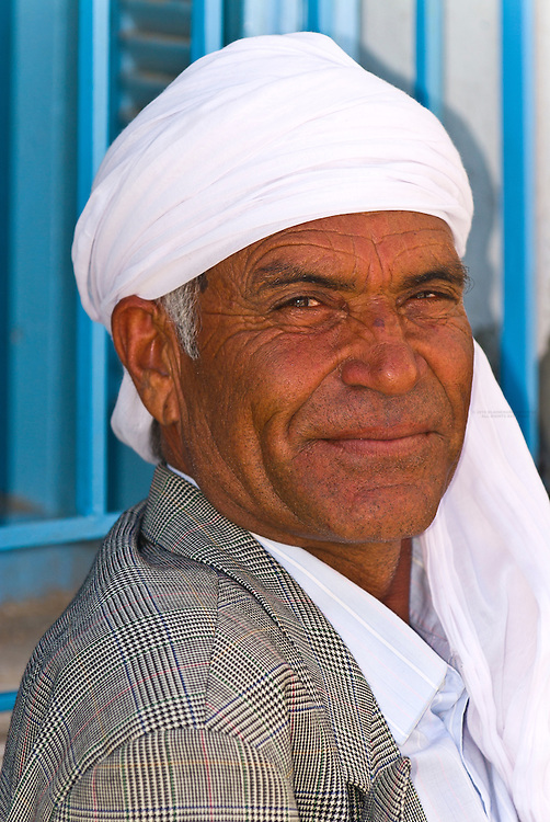 Man in outside cafe, Skhira, Tunisia