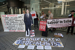 London, UK. 20th July, 2021. Supporters of left-wing Labour Party groups attend a protest lobby outside the party's headquarters. The lobby was organised to coincide with a Labour Party National Executive Committee meeting during which it was asked to proscribe four organisations, Resist, Labour Against the Witchhunt, Labour In Exile and Socialist Appeal, members of which could then be automatically expelled from the Labour Party.