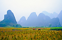 Landscape near Moon Hill outside Yangshou, Guangxi Province, Southern China