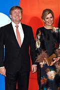 Koning Willem-Alexander en koningin Maxima openen het evenement Leeuwarden-Fryslan 2018, Culturele Hoofdstad van Europa (LF2018)<br /> <br /> King Willem-Alexander and Queen Maxima open the event Leeuwarden-Fryslan 2018, Cultural Capital of Europe (LF2018)<br /> <br /> Op de foto / On the photo:  Koning Willem-Alexander en koningin Maxima / King Willem-Alexander and Queen Maxima