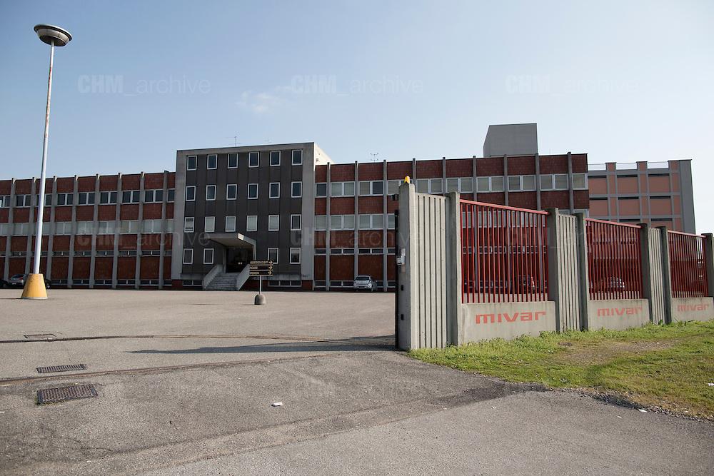 L'esterno della fabbrica Mivar, Abbiategrasso 18 marzo 2014. Guido Montani / OneShot