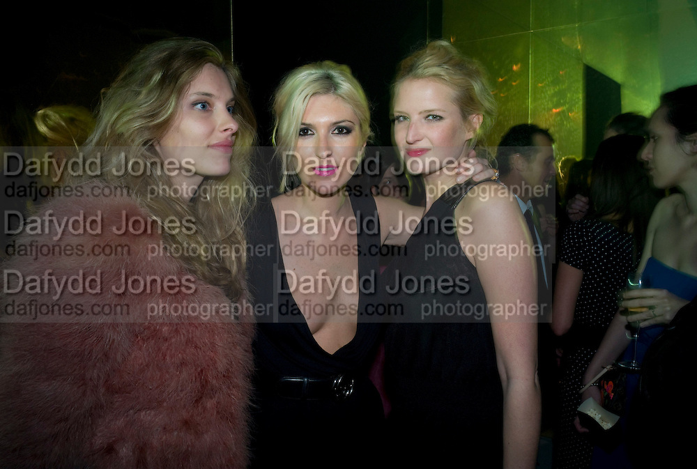 SARA BRAJOVIC; ANASTASIA LENGLET; OLYMPIA SCARRY, A Tribute to Cinema party given by Moet and Chandon.Big Sky Studios, Brewery Rd. London.  24 March 2009