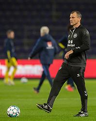Vikarierende træner Ebbe Sand (Danmark) under venskabskampen mellem Danmark og Sverige den 11. november 2020 på Brøndby Stadion (Foto: Claus Birch).
