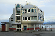 Modern architecture of port harbour building Molde, Romsdal county, Norway - Molde Havnevesen