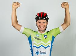 Jan Polanc during photo session of Slovenian Cycling Team for 2018 UCI Road World Championships Innsbruck, on September 17, in Spodnji Brnik, Slovenia. Photo by Vid Ponikvar / Sportida