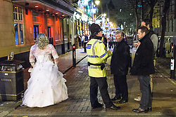 © Licensed to London News Pictures . FILE PICTURE DATED 05/05/2013 of Manchester's Police and Crime Commissioner , Tony Lloyd (3rd from left) on overnight patrol with police in Central Manchester as the British Home Secretary , Theresa May , takes questions at the annual Police Federation conference on licensing and policing the night time economy , today (Wednesday 15th May 2013) . Photo credit : Joel Goodman/LNP