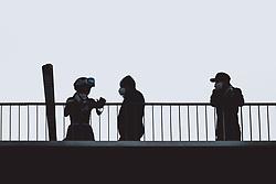 24.02.2021, Oberstdorf, GER, FIS Weltmeisterschaften Ski Nordisch, Oberstdorf 2021, Damen, Nordische Kombination, Skisprung, Training, im Bild Feature, Skispringen, Coronavirus, FFP 2 Masken // Feature, Skispringen, Coronavirus, FFP 2 Masken during a training session for the Ski Jumping Competition of women Nordic combined of FIS Nordic Ski World Championships 2021. in Oberstdorf, Germany on 2021/02/24. EXPA Pictures © 2021, PhotoCredit: EXPA/ JFK