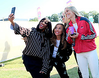all saints doing taking a selfie at the Isle of Wight Festival, Newport, IOW photo by Dawn Fletcher -Park