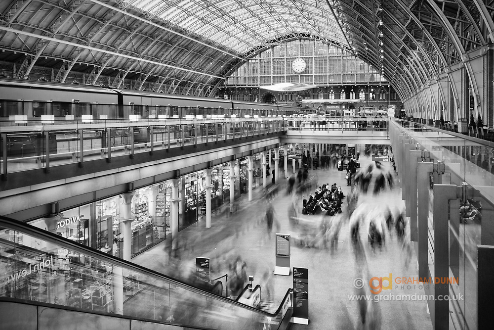 An endless flow of people through St Pancras Station in London. A long exposure accentuates the movement and flow and, to me, gave the impression of a game of musical chairs! An urban scene from our capital city.