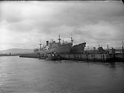 Irish Pine and Irish Cedar Ships at Alexandra Basin, Dublln, Ireland.12/05/1958