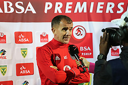 17032018 (Durban) Orlando Pirates Head coach during an interview Sredojevic when Orlando Pirates walloped Golden Arrows 2-1 at the ABSA premier league encounter at Princess Magogo Staduim; in Kwa-Mashu; Durban. Pirates has advance their league position to number 2 with 41 points after Sundowns with 42 points lead.<br /> Picture: Motshwari Mofokeng/African New Agency/ANA