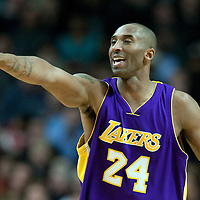 15 December 2009: Los Angeles Lakers guard Kobe Bryant yells instructions to a teammate during the Los Angeles Lakers 96-87 victory over the Chicago Bulls at the United Center, in Chicago, Illinois, USA.