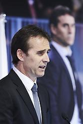 June 14, 2018 - Madrid, Madrid, Spain - Julen Lopetegui during the presentation of Julen Lopetegui as new head coach of Real Madrid F.C. at Santiago Bernabeu Stadium on June 14, 2018 in Madrid, Spain (Credit Image: © Jack Abuin via ZUMA Wire)